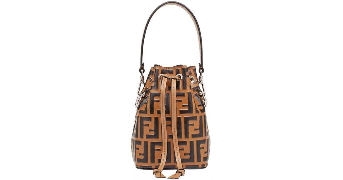 bc26e42ffd84 Lyst - Fendi Mon Trésor Mini Bucket Bag