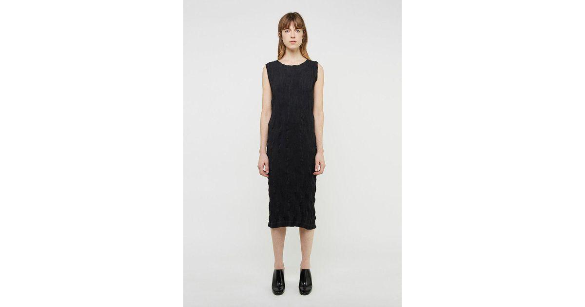 Black Short Striped Dress Issey Miyake Rpd1bRV