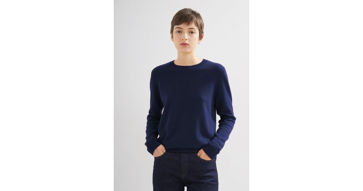 627059a6ee8669 Lyst - Moderne Cashmere Reversible Pullover in Blue