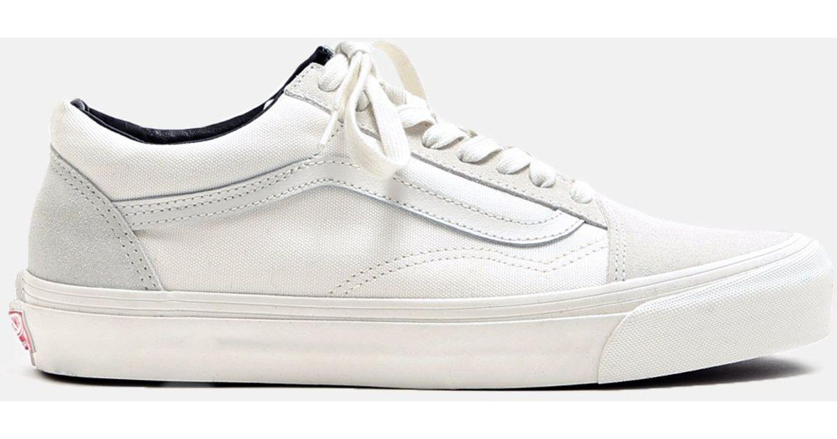 a4ffe75b74ae Lyst - Vans Og Old Skool Suede Canvas Sneakers in White for Men