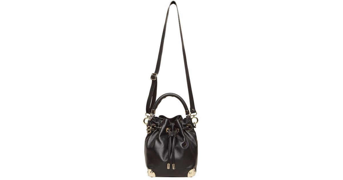 d15a0558e768 ... Nextprev Prevnext. Salvatore Ferragamo Black Pebbled Leather Drawstring  Hobo 127848. Lyst Viktor Rolf Drawstring Leather Bag In Black