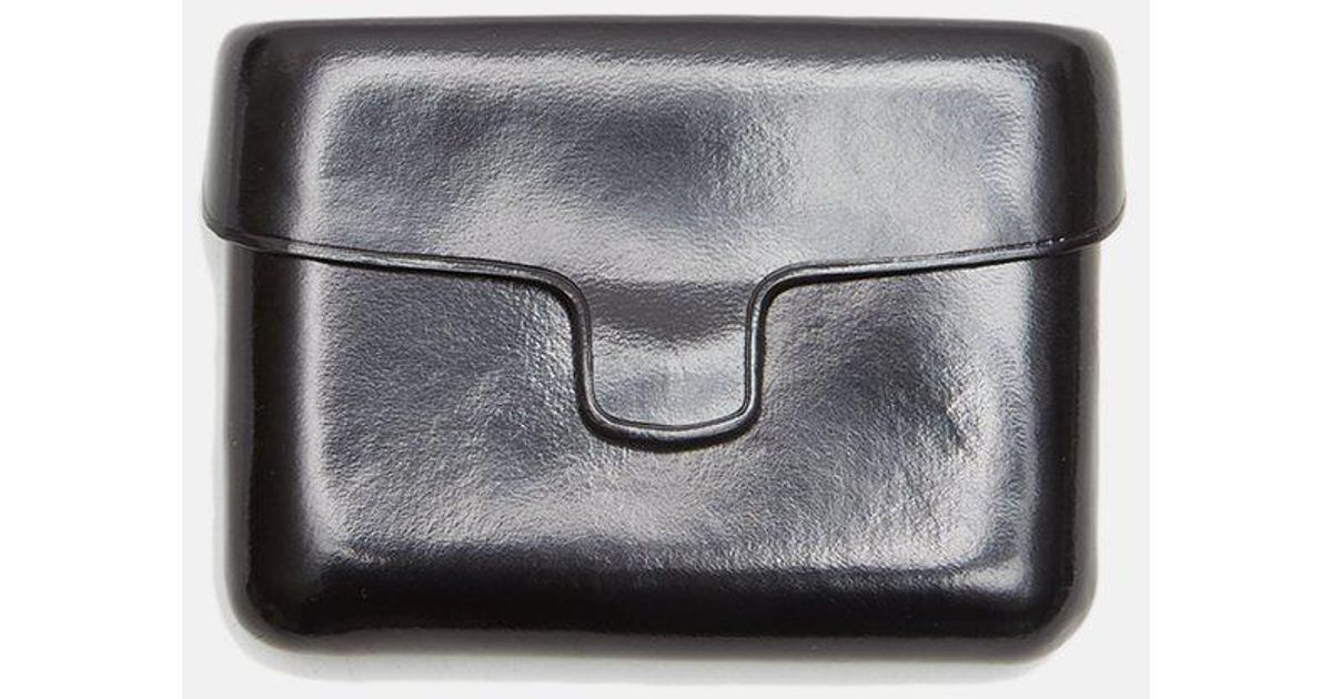 3b5196619e05 Lemaire Leather Card Case in Black - Lyst