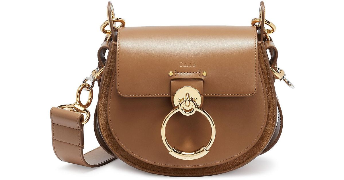367411d125 Chloé 'tess' Ring Small Leather Shoulder Bag in Brown - Lyst