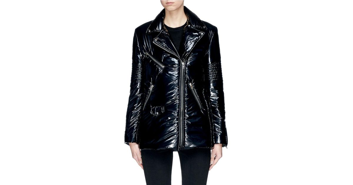 fashion styles special discount of attractive price Alexander Wang Black Biker Puffer Jacket