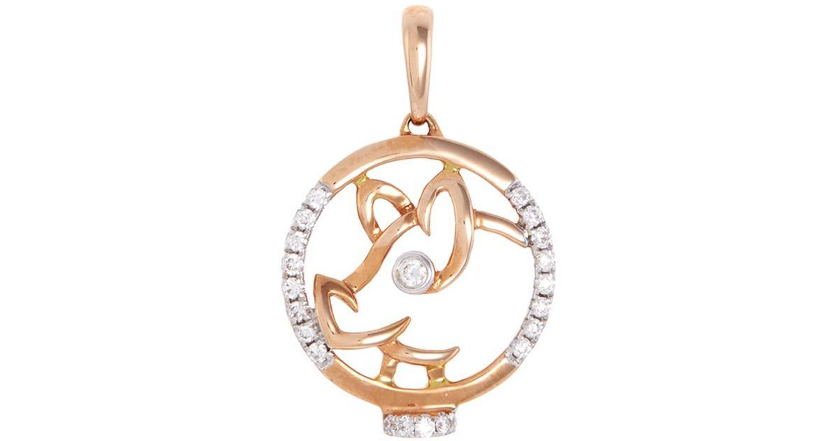necklace gold loveness chinese pendant metallic horoscope lyst in zodiac lee jewelry monkey