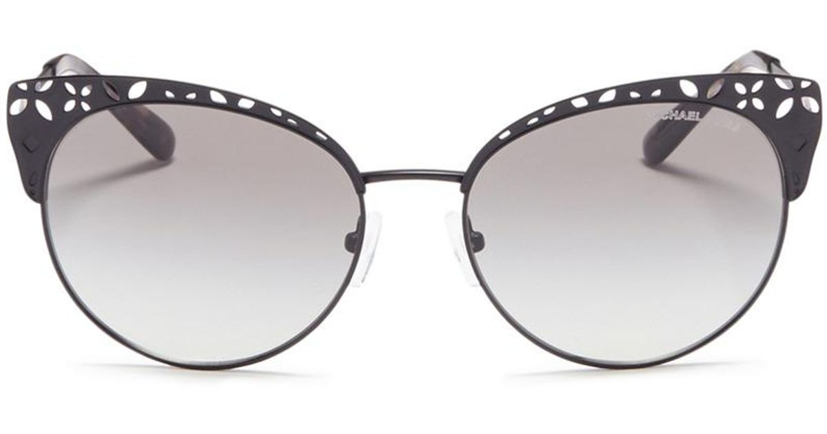 5d3a3011c489 Michael Kors 'evy' Floral Cutout Matte Metal Cat Eye Sunglasses - Lyst