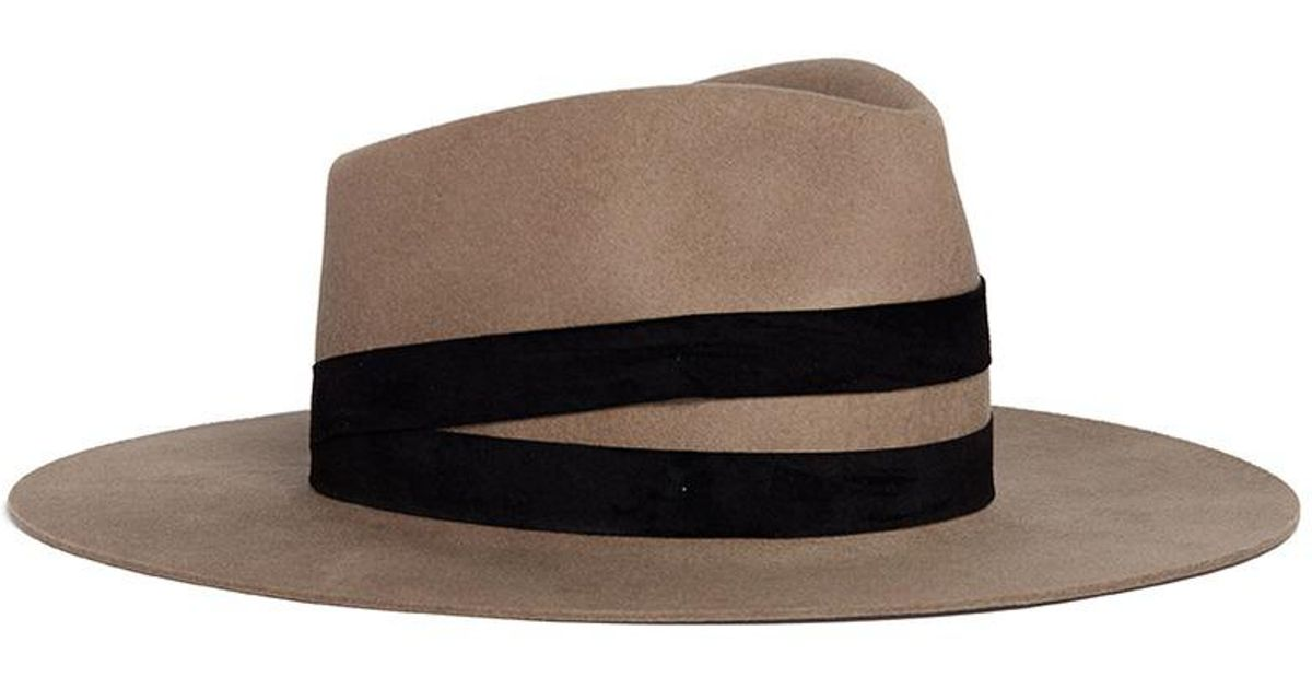 Lyst - Janessa Leone  un  Suede Band Wool Fedora Hat in Brown for Men c494d1645b5