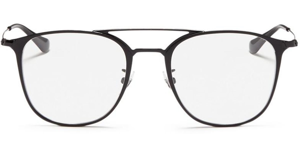 23ec70294f7 Lyst - Ray-Ban  rb6377f  Square Metal Optical Glasses in Black for Men