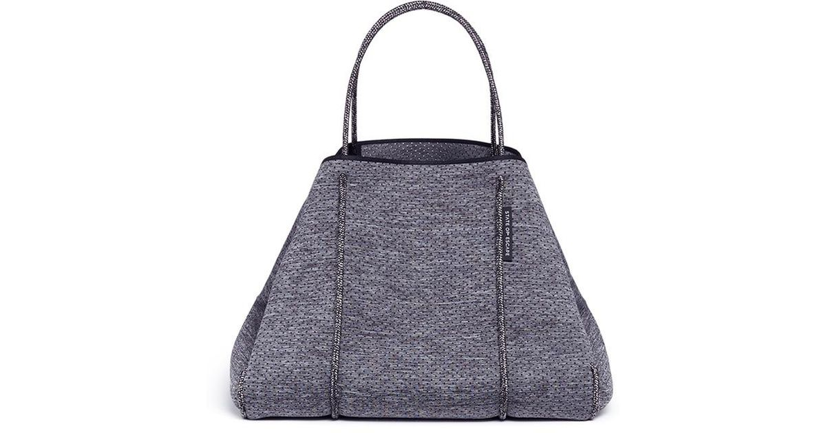Lyst State Of Escape Sailing Rope Handle Neoprene Tote In Gray