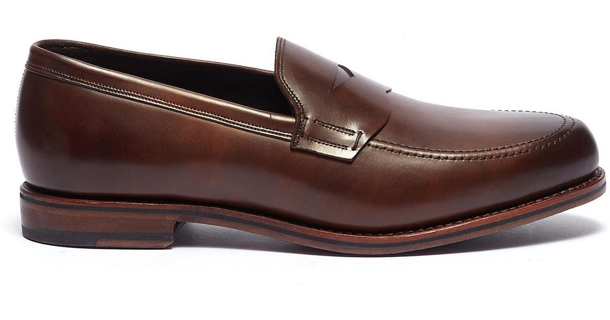 14845b02ab1 Lyst - Allen Edmonds  wooster Street  Leather Penny Loafers in Brown for Men