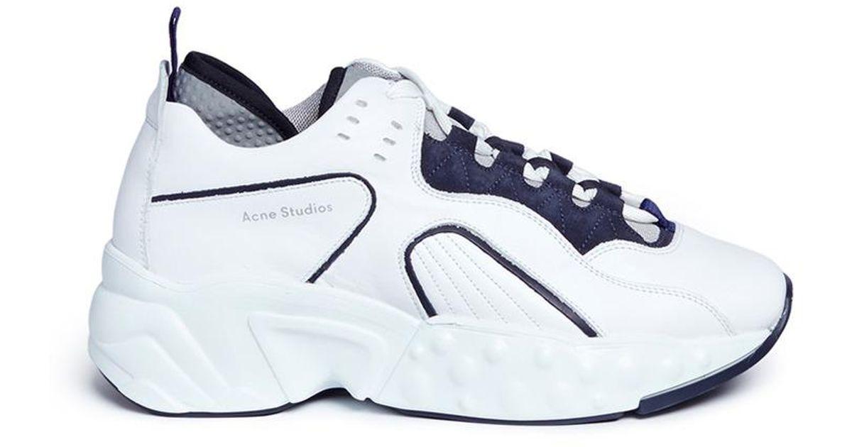 Blue and White Manhattan Sneakers Acne Studios lRiNr