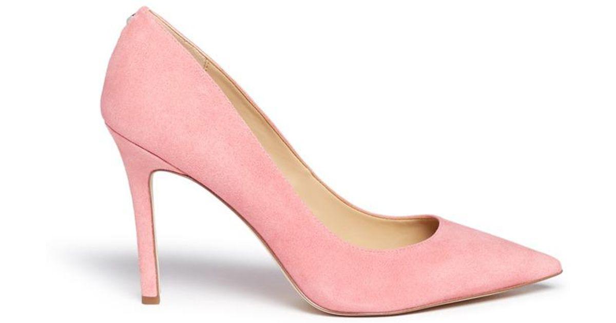 4b38c703aeb47 Lyst - Sam Edelman  hazel  Suede Pumps in Pink