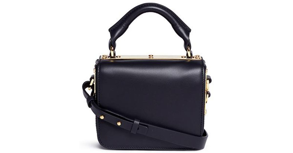 Sophie Hulme  finsbury  Small Leather Crossbody Bag in Black - Lyst e9e80825094d7