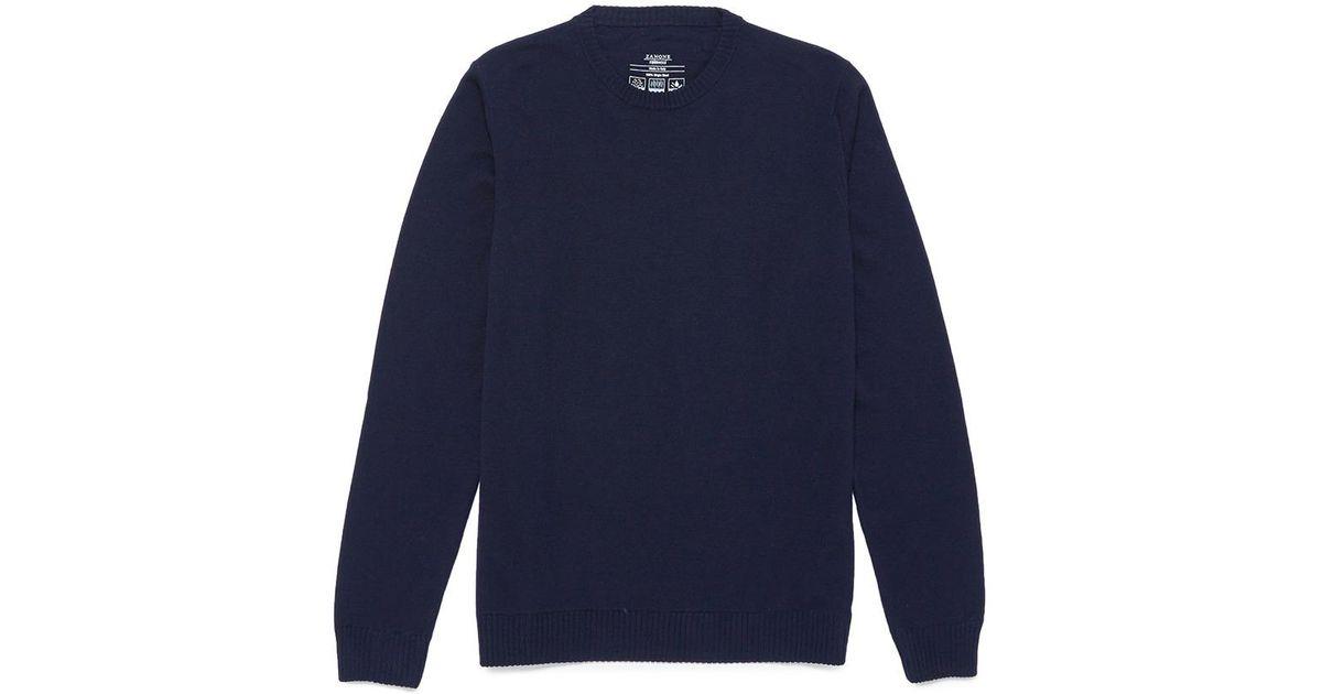 Brushed Sweater Virgin Blue Incotex Wool 811Yx0wg