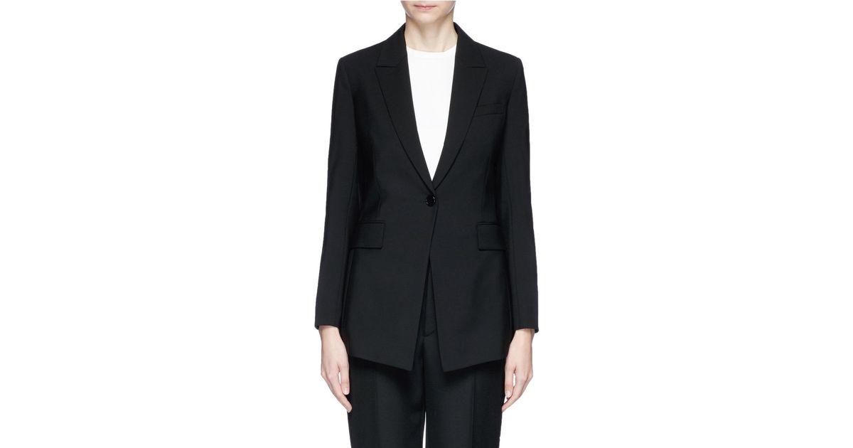 7cdcd776b7 Theory 'etiennette B' Wool Blazer in Black - Lyst