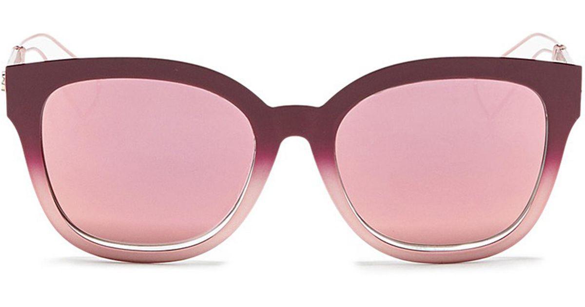 015a46a674da Lyst - Dior  ama 1  Degradé Openwork Temple Mirror Sunglasses in Pink