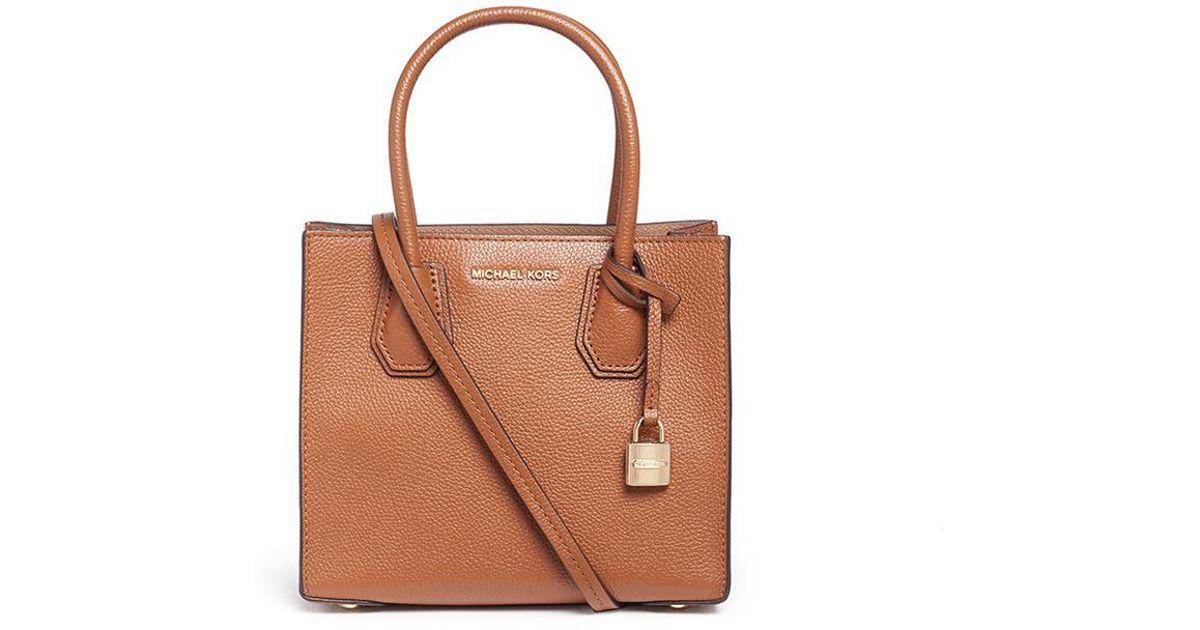 c431051db9 Michael Kors 'mercer' Medium Leather Crossbody Bag in Brown - Lyst