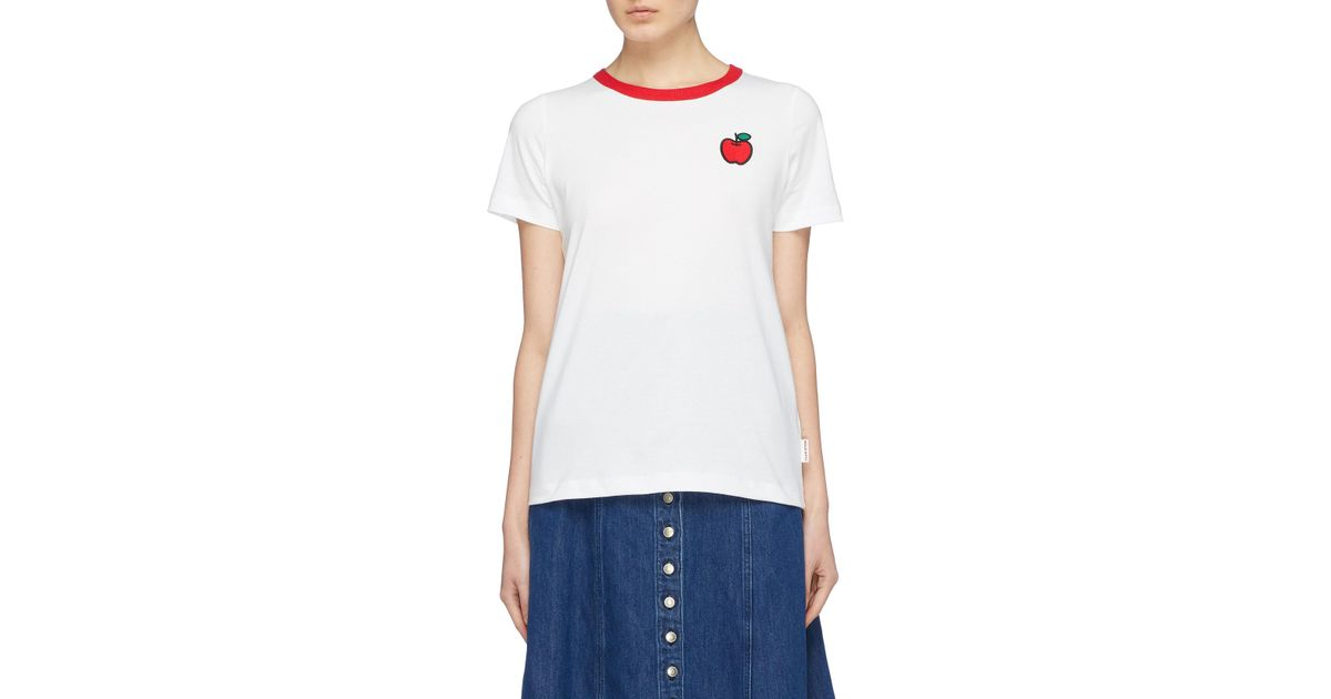 Lyst chinti & parker x hello kitty® contrast collar graphic