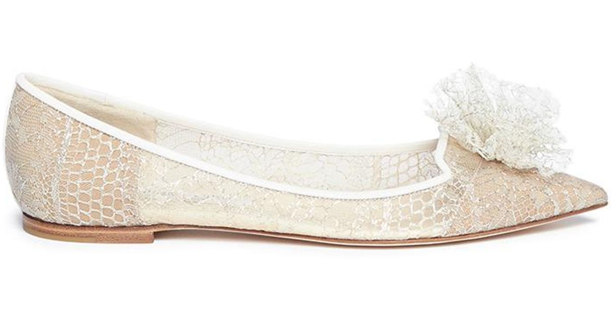 cheap sale sast Jimmy Choo Embellished Leather Flats w/ Tags clearance online free shipping wiki free shipping supply Ma8TVMTJd