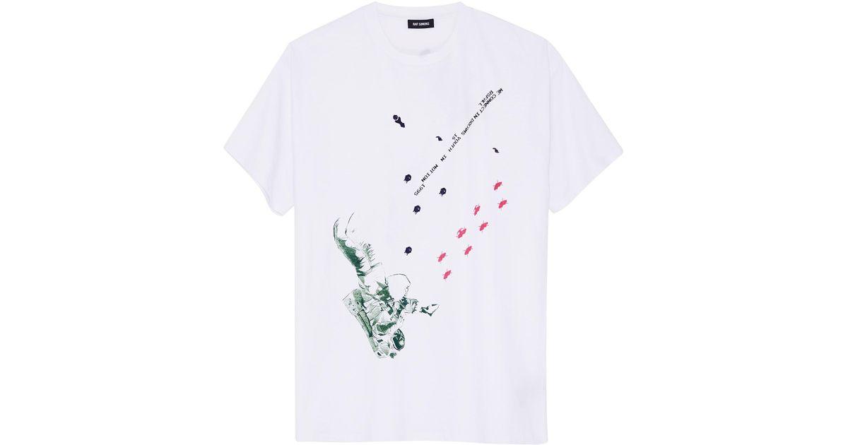 e7190282a Raf Simons White Astronaut Regular Fit T-shirt in White for Men - Lyst