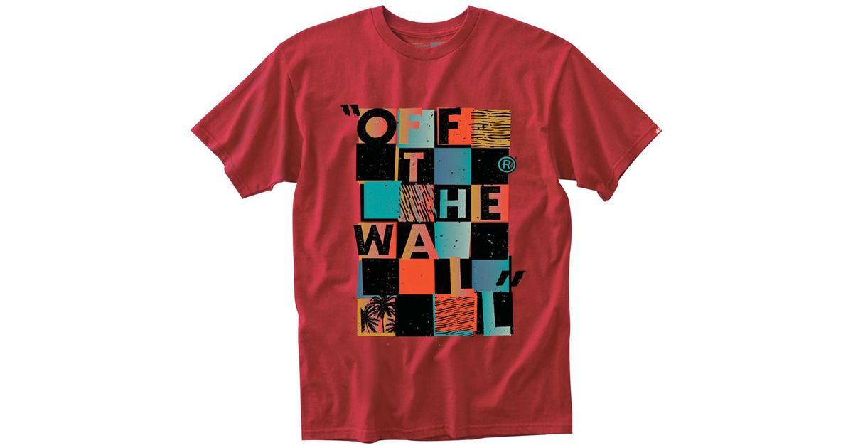 902176cf388230 Lyst - Vans Otw Checker Blaster Ii T-shirt in Red for Men