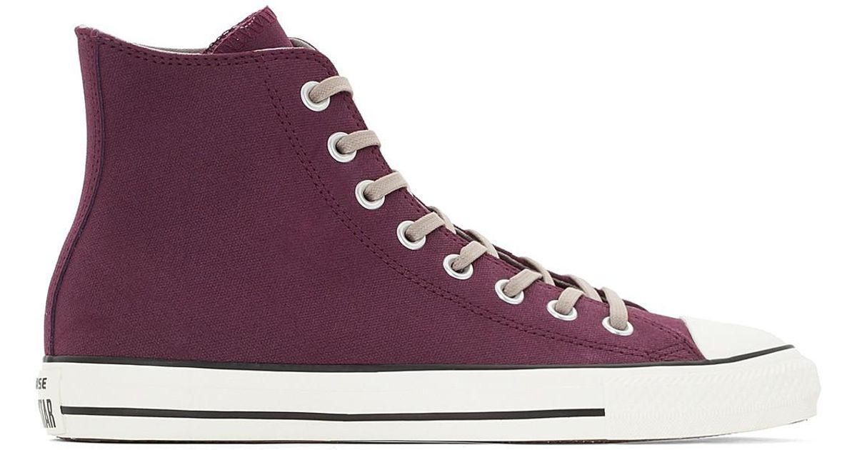 55216e729132b Converse Baskets Montantes Ctas Coated Leather Hi in Purple for Men ...