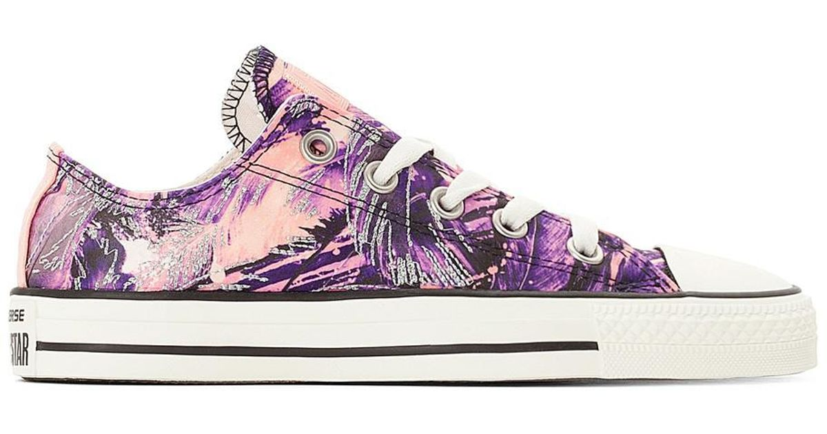 buy cheap low shipping fee original CONVERSE CTAS OX Feather Print Canvas Trainers cheap purchase discount with mastercard xSRiezti