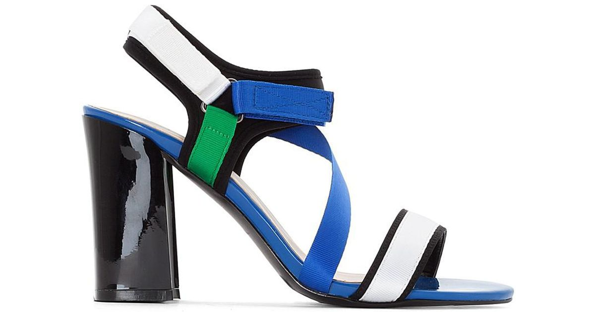 La Redoute Collections Touch 'N' Close Sandals with Asymmetric Strap get to buy online Pa0kJs