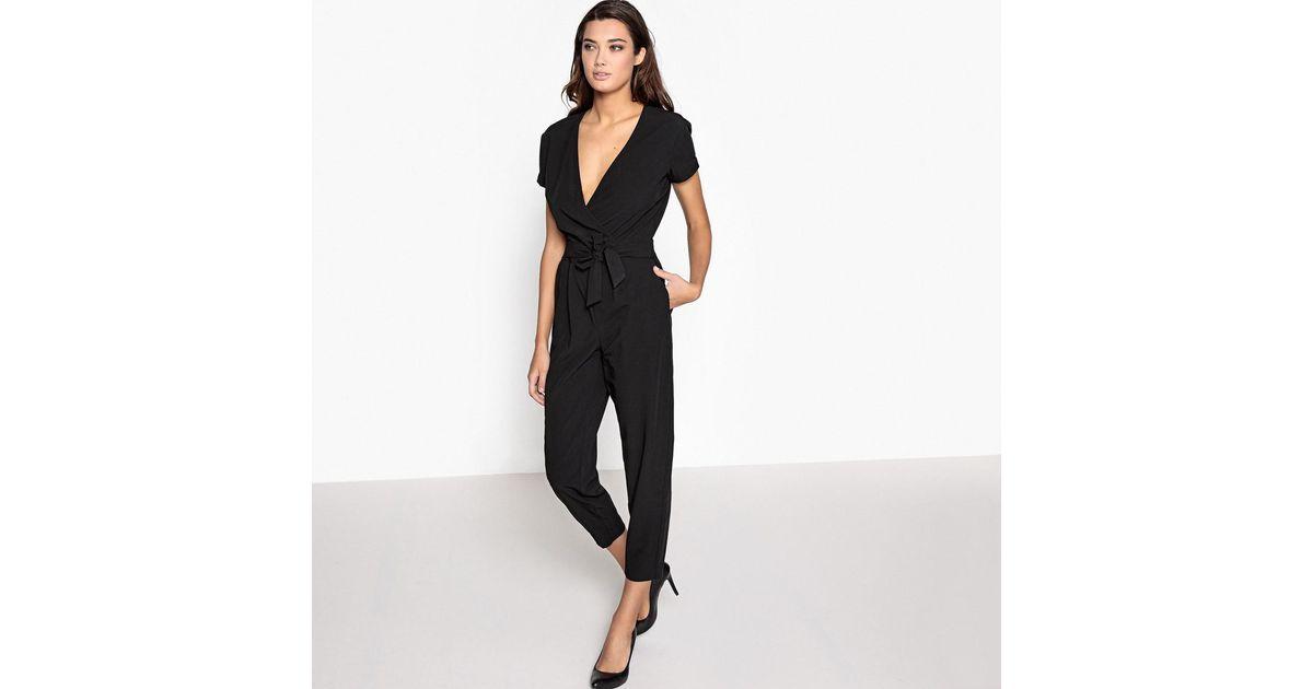 0d720899188 Lyst - La Redoute Short-sleeved Jumpsuit in Black