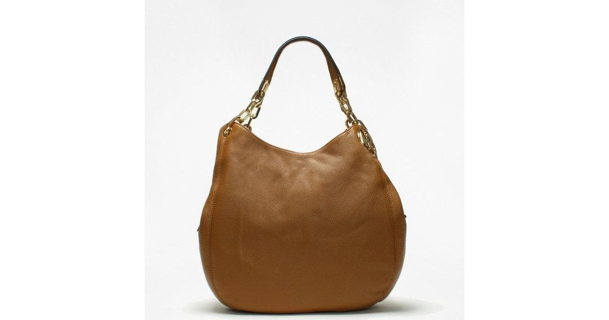 1d911805daaaf6 Michael Kors Large Fulton Acorn Leather Shoulder Tote Bag in Brown - Lyst