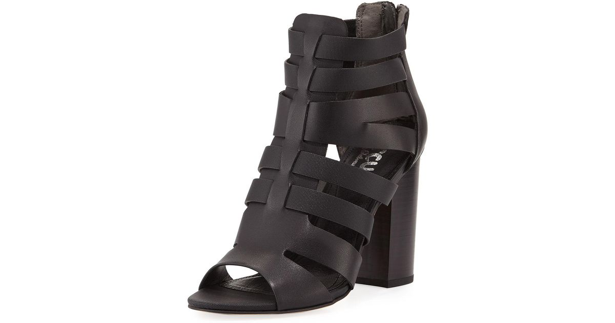 e0484fa6b230d8 Lyst - Circus by Sam Edelman York Cutout Zip-up Gladiator Bootie in Black