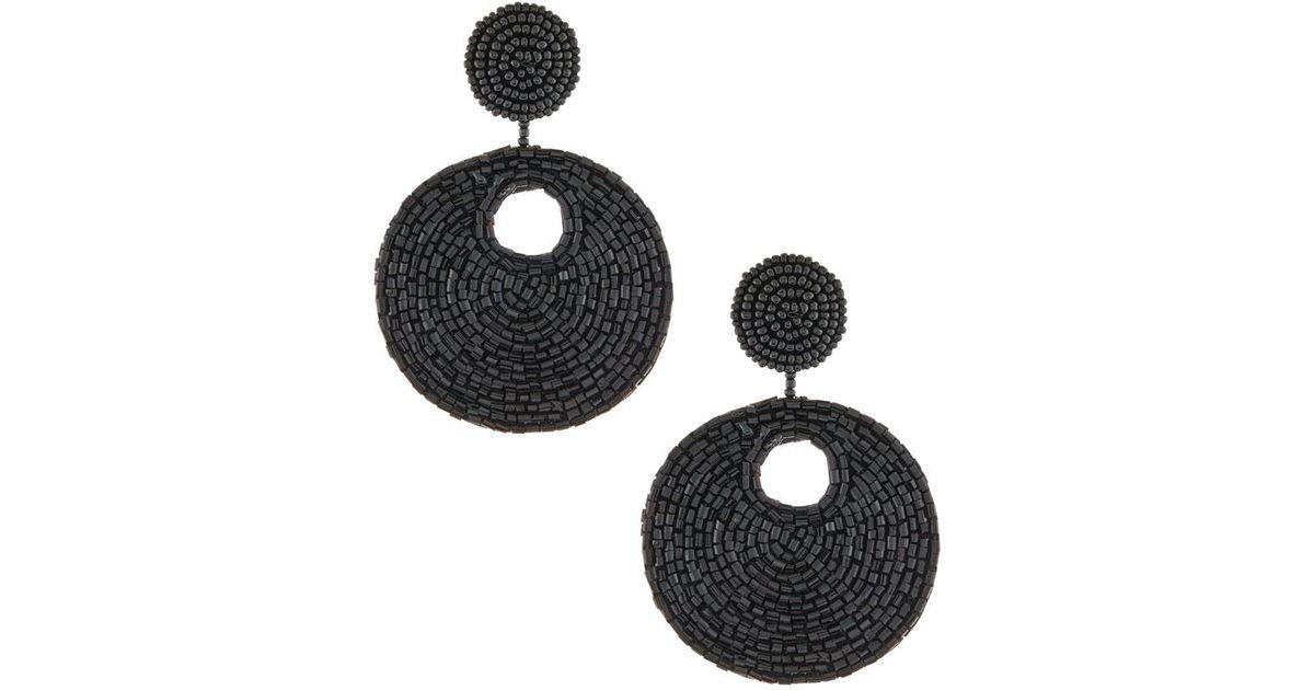 Kenneth Jay Lane Seed Bead Drop Earrings akHtby11BK