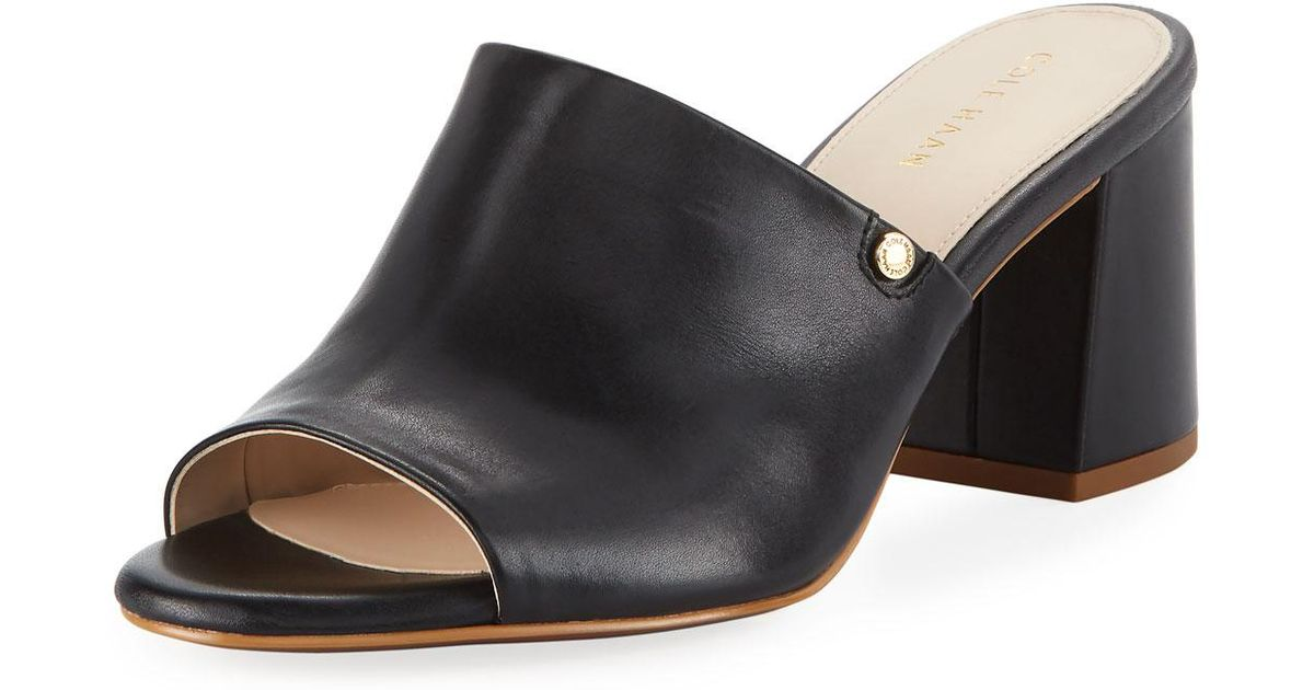 Cole Haan Daina Leather Mules 6HC8jo4