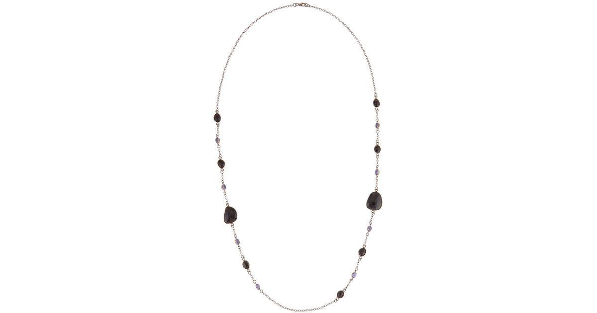 Bavna Single-Strand Black Spinel Necklace AFQa5Ag