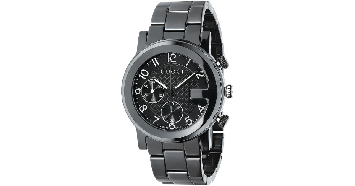 dcfa12657a9 Lyst Gucci G Chrono Ceramic Watch In Black For Men