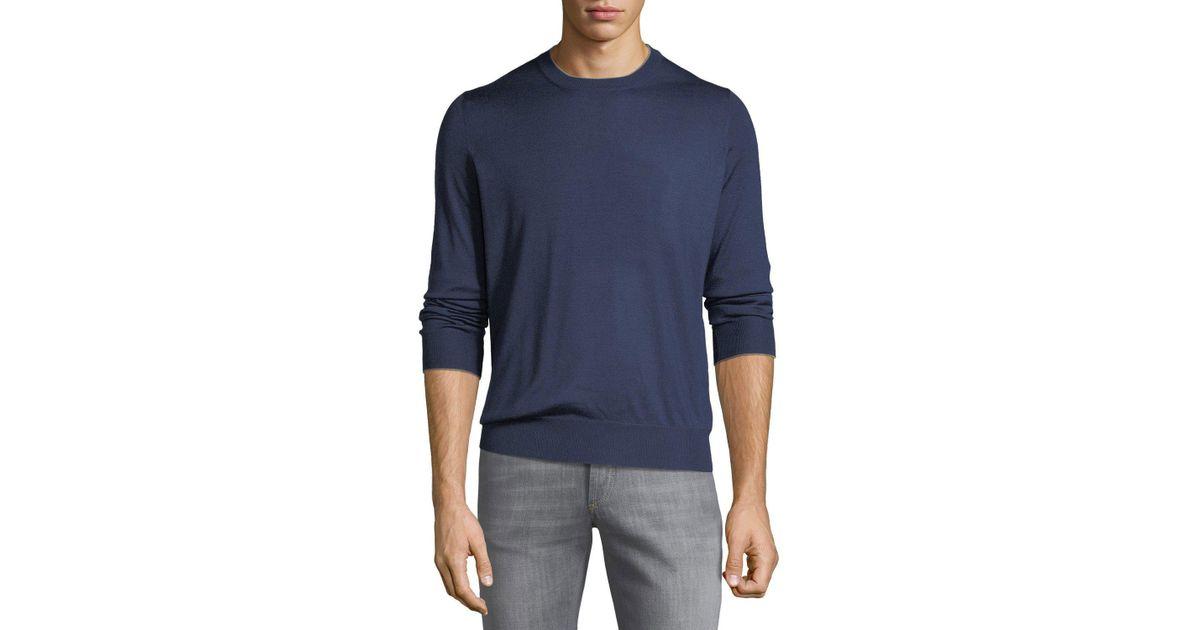 d9d185a8de Lyst - Brunello Cucinelli Cashmere Elbow-patch Sweater in Blue for Men