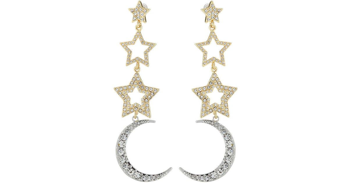 Lydell Nyc Linear Crystal Drop Earrings HabI2Kt