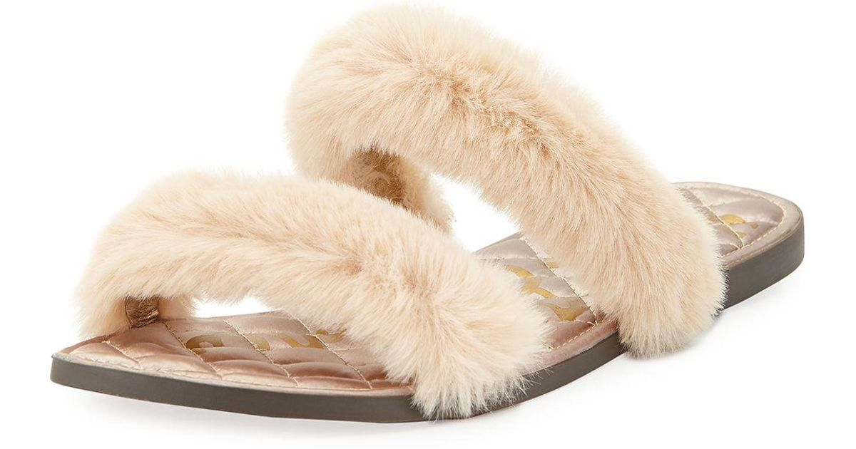 bc493341f82 Lyst - Sam Edelman Griselda Faux-fur Sandals in Black