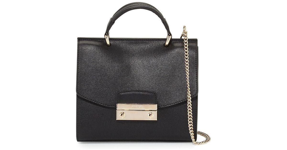 7e2766b12901 Lyst - Furla Julia Mini Top Handle Crossbody Bag in White