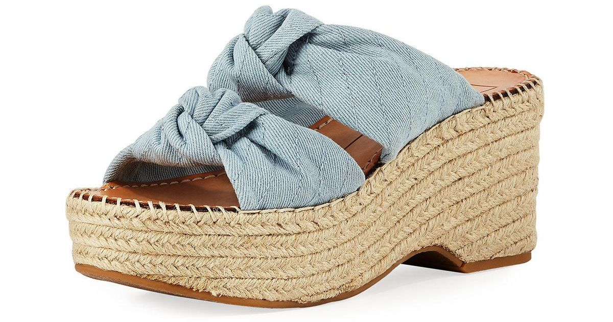 d693b8074c5 Lyst - Dolce Vita Lera Two-band Wedge Sandal in Blue