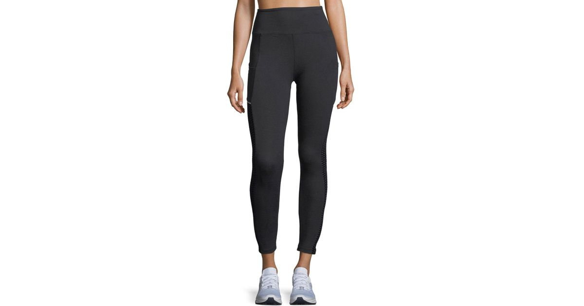 883019e99416c Lyst - Marika Tek High-rise Leggings W/ Mesh Sides in Black