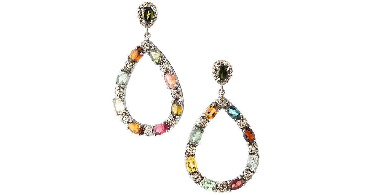 Bavna Marquise & Teardrop Tourmaline Earrings Sh4cD