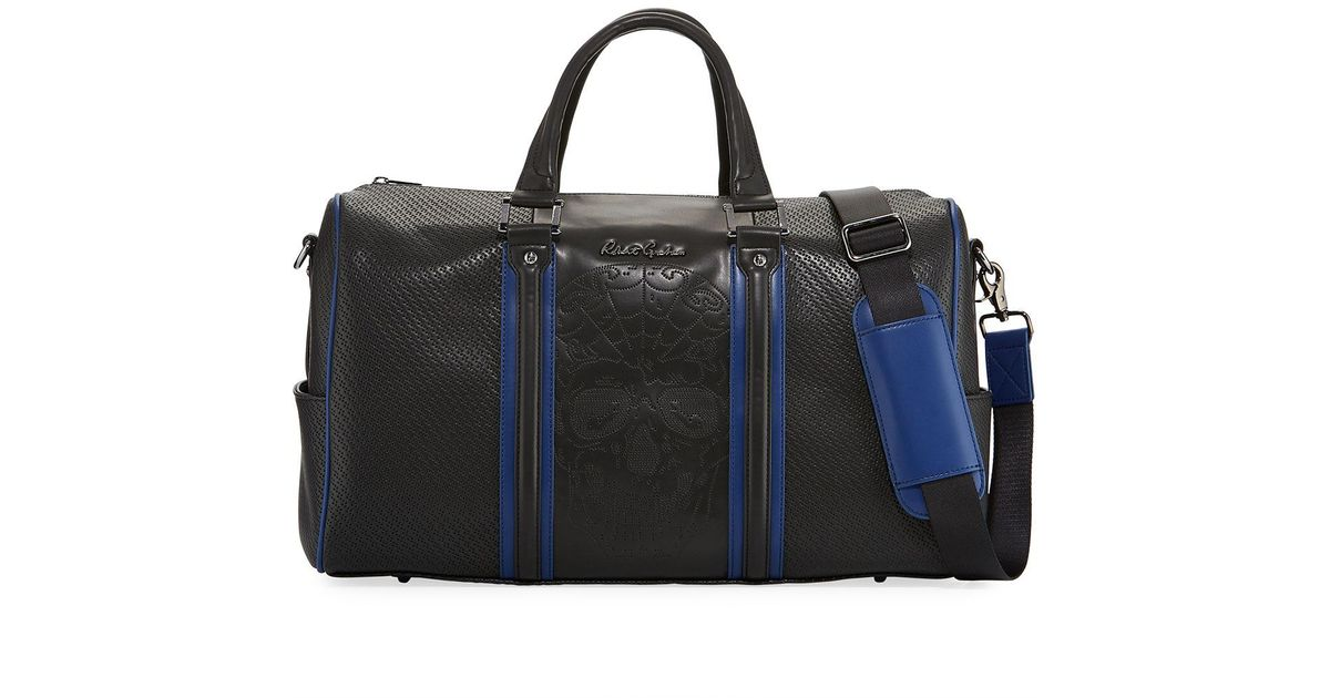 Lyst - Robert Graham Lyman Perforated Skull Faux-leather Duffel Bag in Black  for Men