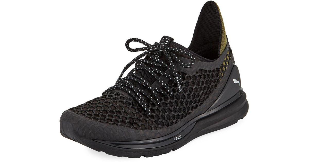 524566f75874 Lyst - PUMA Men s Ignite Limitless Netfit Staple Sneakers in Black for Men