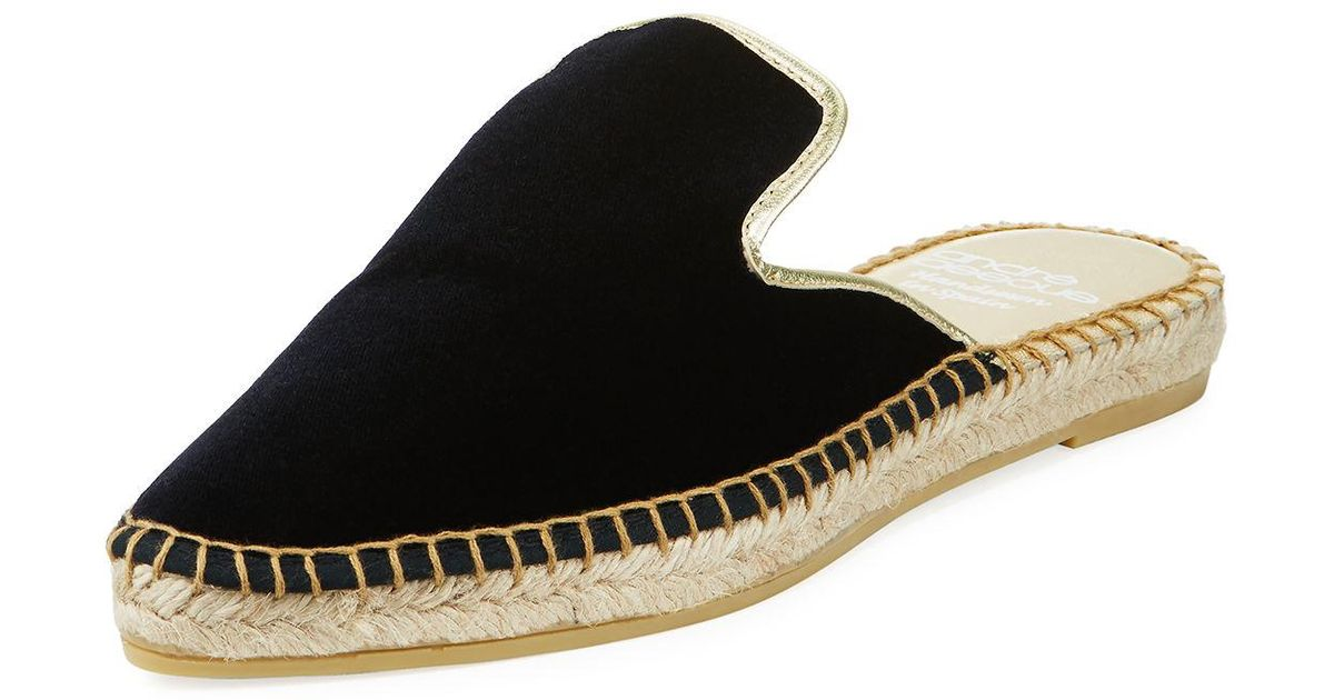 Lyst Andre Assous Assous Assous Marcia Woven Fabric Mule in Black 4a9bb5