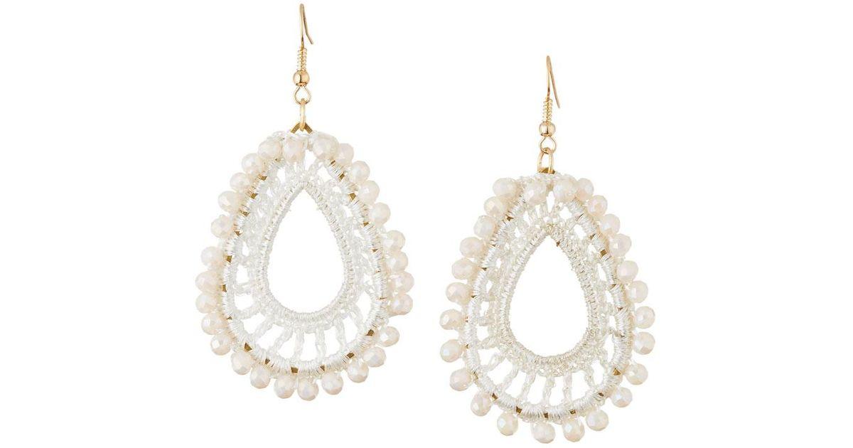 Panacea Crochet & Crystal Drop Earrings CBec2