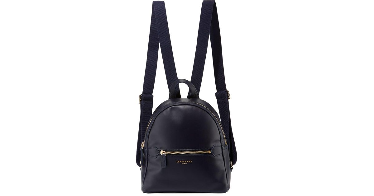 f700af41463f Lyst - Longchamp 2.0 Small Leather Backpack Bag in Blue - Save 3%