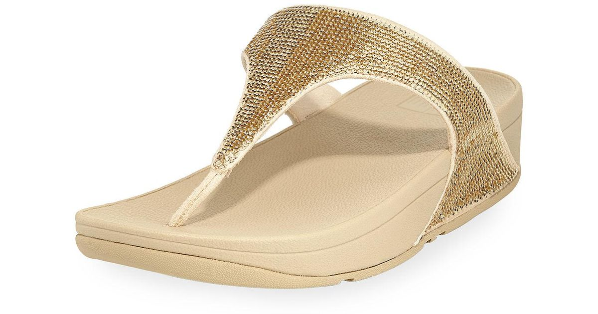 338a61dcf152a5 Lyst - Fitflop Electra Micro-bead Thong Sandal in Black