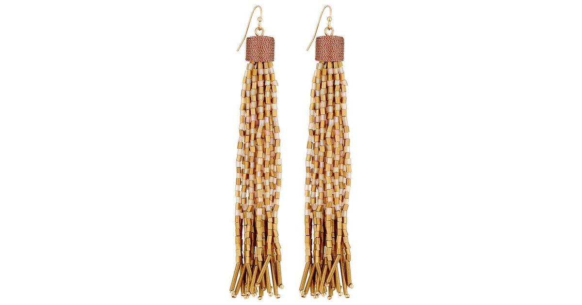 Lydell Nyc Beaded Hoop Drop Earrings yFVnN8c