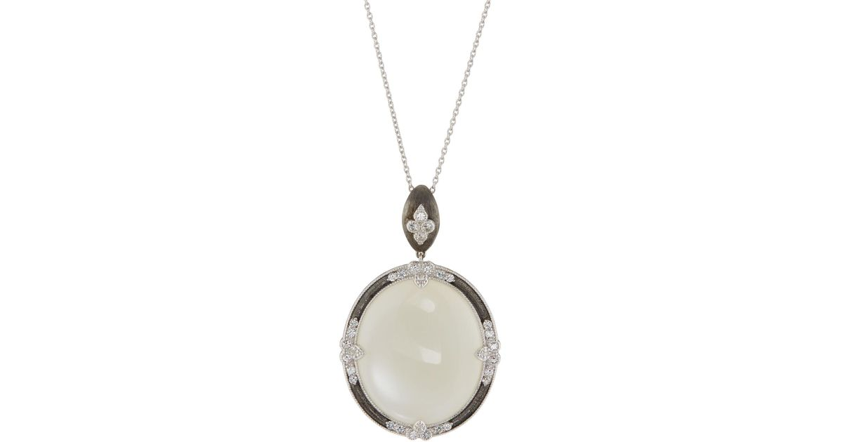 Jude Frances Moroccan Oval Pendant Necklace, Moonstone